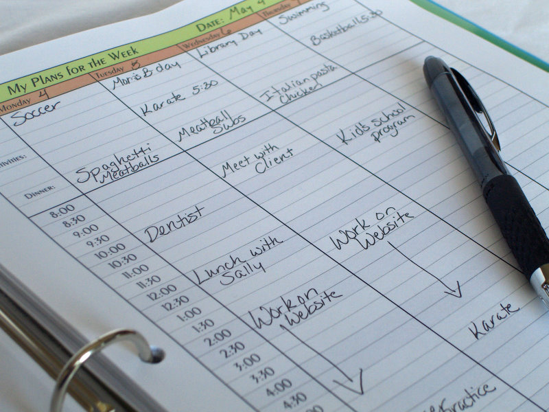 The Four Commandments of Using a Planner